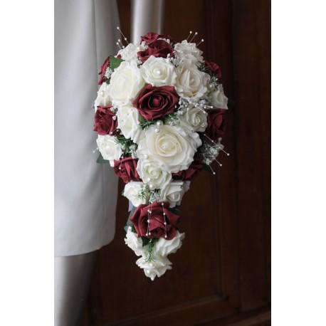 Promotion Bouquet Mariage Tombant Thme Blanc Cass Et