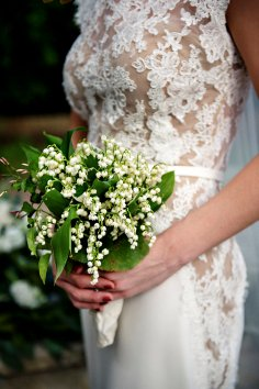 Bouquet of lily of the valley blooms