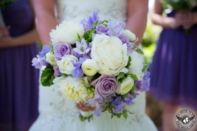 lavender white purple bouquet