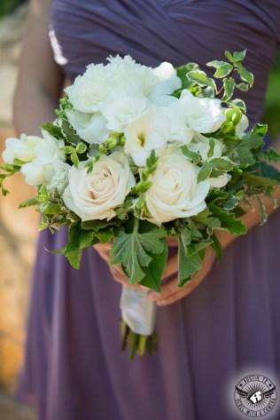 white bridesmaid bouquet color dress
