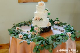 Foliage garland/ runners are right on trent-here used on the cake table.