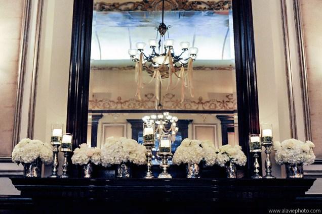 Driskill Hotel Ballroom Wedding ceremony with mercury glass.