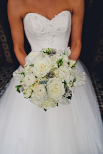 Winter white bridal bouquet