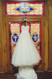 Wedding gown at Church