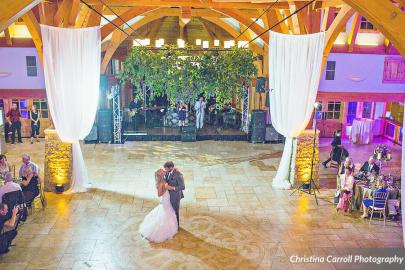 First dance at Sacred Oaks with draping