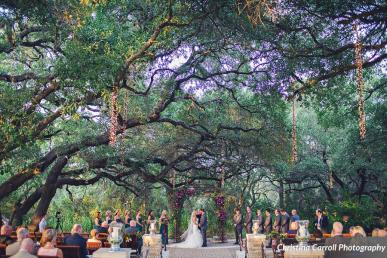 Outdoor fall ceremony at Sacred Oaks