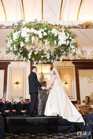 hanging wreath driskill hotel
