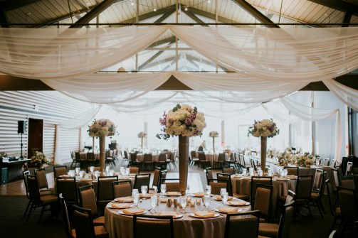 Tall centerpieces at Lakeway Resort and Spa