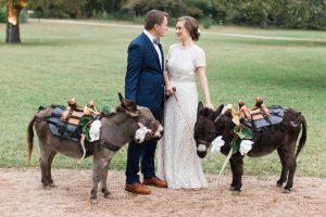 Beer burros at wedding reception.
