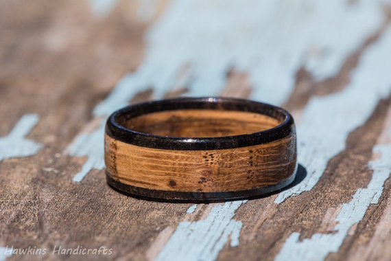 Valentines Day To Pop The Question Be Ready And Waiting With Your Wedding Bands Handmade From Jack Daniels Whiskey Barrels Now Thats True Love