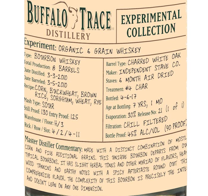New: Buffalo Trace Organic Six Grain Bourbon