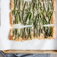 Spring Asparagus Galette {Puff Pastry Tart}