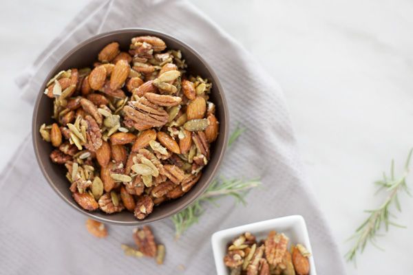 Sweet and Spicy Nuts | BourbonAndHoney.com