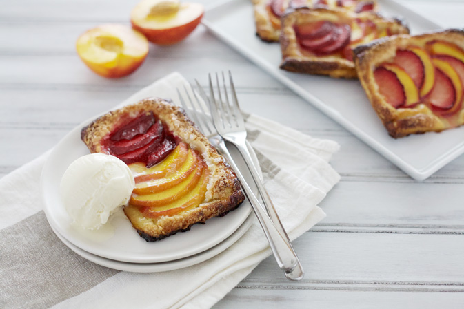 Nectarine and Plum Tarts