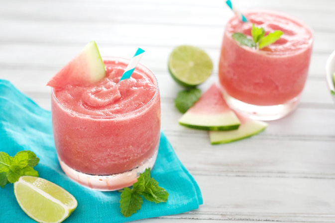 Watermelon Tequila Slush | BourbonandHoney.com