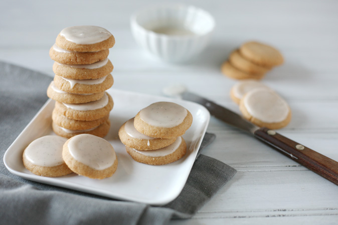 Brown Butter Sugar Cookies with Vanilla Bean Icing