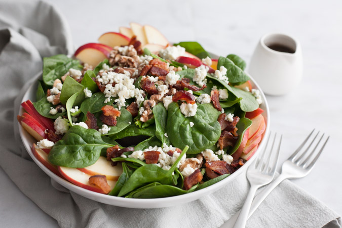 Apple, Bacon and Blue Cheese Salad