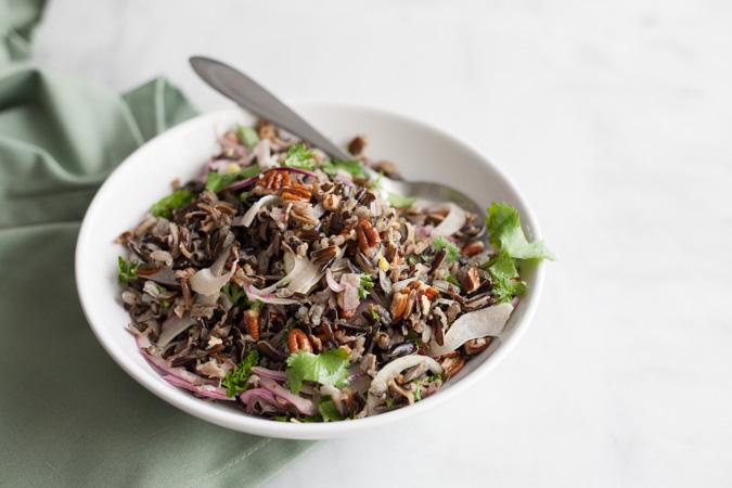 Wild Rice Salad with Pecans