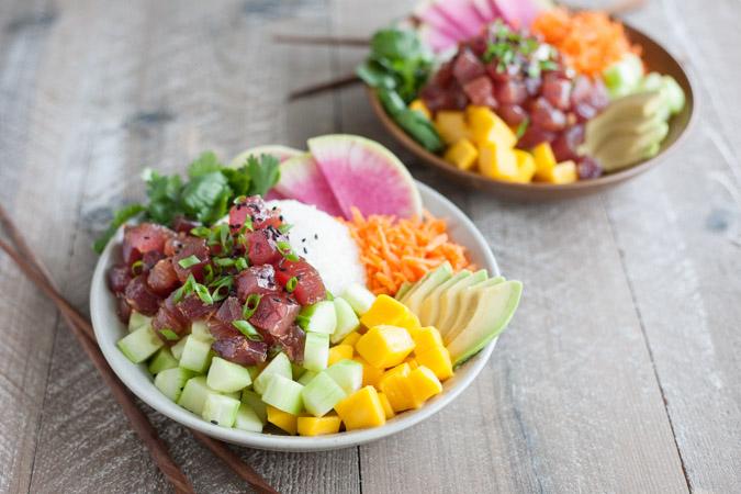 Ahi Tuna Poke Rice Bowl