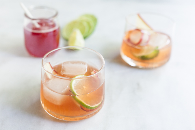 Rhubarb Old Fashioned Cocktail | BourbonandHoney.com -- Pour yourself a fresh, sweet, tart and boozy Rhubarb Old Fashioned cocktail to kick off the weekend or enjoy a summery afternoon.