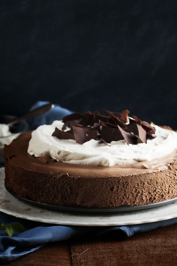 Chocolate Mousse Pie | Just a Little Bit of Bacon