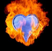 Fire and Ice Heart