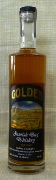 Golden Samish Bay Single Malt Whiskey