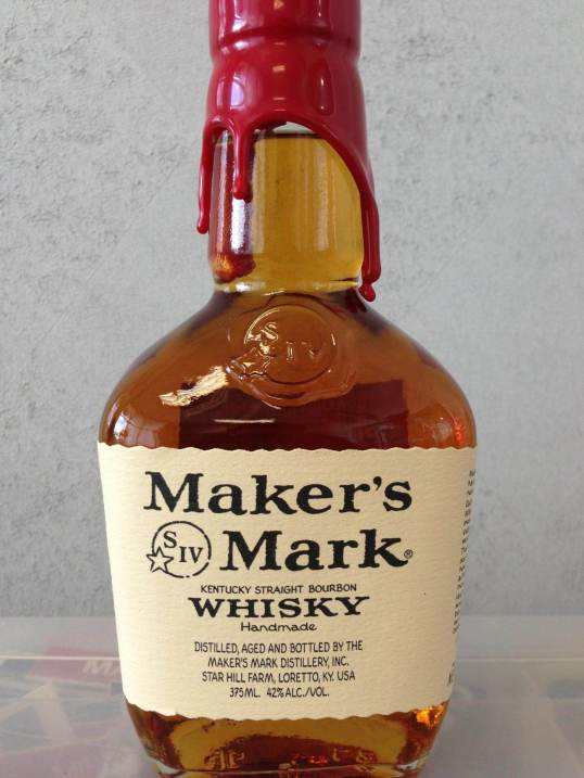 The new Makers Mark Bourbon Bottle bearing the label stating 42% ABV at 84 proof