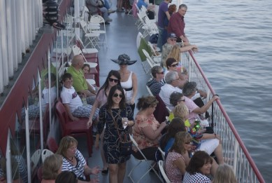 Guests enjoyed Four Roses Bourbon aboard the Belle of Cincinnati and Belle of Louisville Steamboats