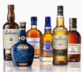 Chivas and Glenlivet Scotch whiskeys
