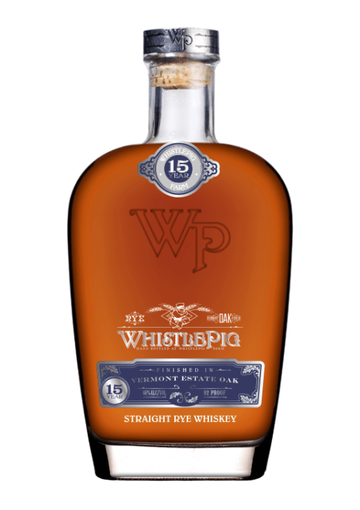WhistlePig rye 15 year old Vermont estate oak