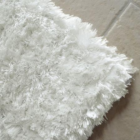 tapis shaggy pop poils longs blanc