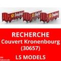 Recherche wagon couvert parois coulissante Kronenbourg SNCF - LS Models 30657