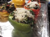 Stuffed bell peppers with cheese
