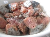 Salmon filet, chopped