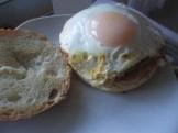 Turkey burger and fried egg on a bun