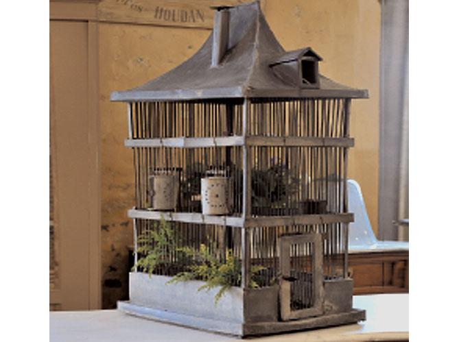 Cage Oiseau Bois Deco