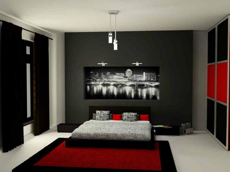 Chambre A Coucher Rouge Et Gris Elegant Free Deco Chambre