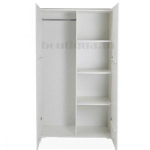 armoire blanche 2 portes ouverte