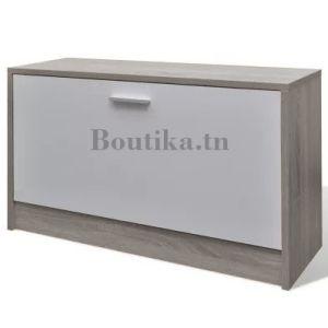 meuble chaussure un seul étage grège chene blanchi