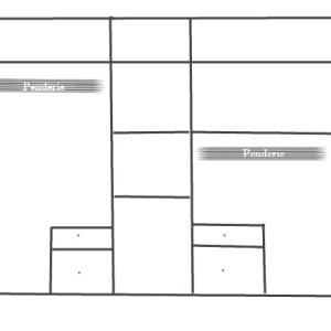 interieur bloc armoire 5 portes avec étagères et penderie