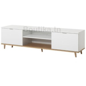 Meuble tv design 2 couleur style scandinave