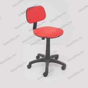 Chaise de bureau tunisie de couleur rouge