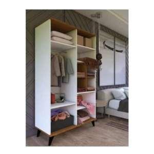 armoire 110 cm 4 portes avec étagères
