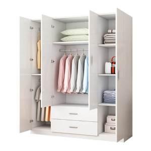 armoire 4 portes en blanc