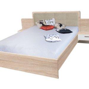 fabrication lit avec 2 tables de nuits en Tunisie