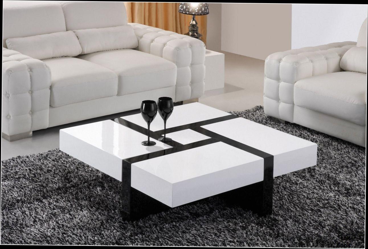 table basse noire avec rangement