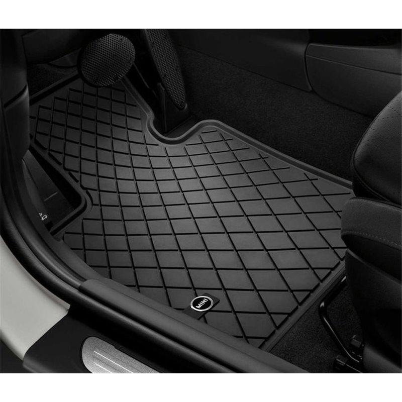 tapis de sol tous temps caoutchouc pour mini f56 3 portes et mini f55 5 portes