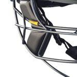 MASURI série Vision Elite Casque de Cricket Grille en titane moyen noir – Noir