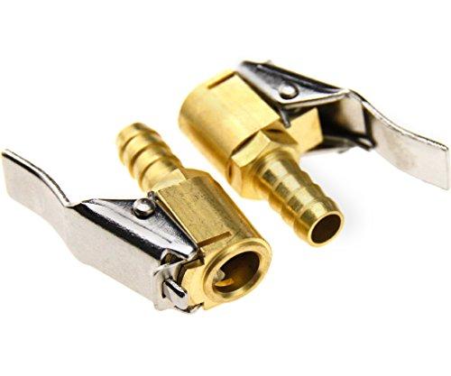 2pcs Embout pour Pompe de Gonflage Compresseur laiton 8mm pneumatique Tuyan Connecteur de soupape de gonflag